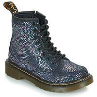 Skor Flickor Boots Dr Martens 1460 J Svart / Metallfärg