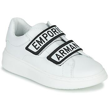Skor Barn Sneakers Emporio Armani XYX007-XCC70 Vit / Svart