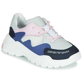 Skor Pojkar Sneakers Emporio Armani XYX008-XOI34 Vit / Blå