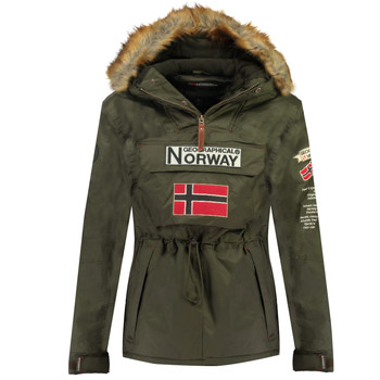 textil Pojkar Parkas Geographical Norway BARMAN BOY Kaki