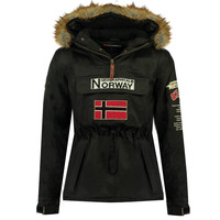 textil Pojkar Parkas Geographical Norway BARMAN BOY Svart