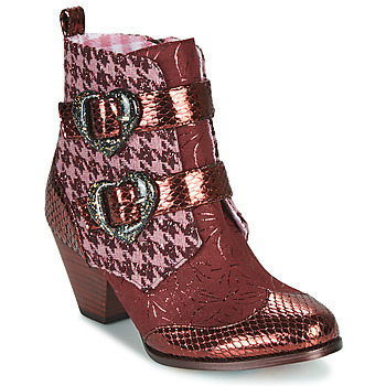 Skor Dam Boots Irregular Choice TOO HEARTS Bordeaux