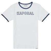 textil Pojkar T-shirts Kaporal ONYX Vit