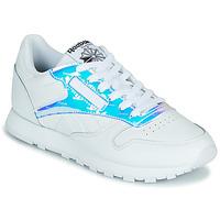 Skor Dam Sneakers Reebok Classic CL LTHR Vit / Regnbågsfärgat