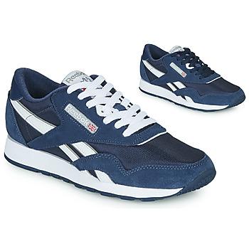 Skor Sneakers Reebok Classic CL NYLON Marin / Vit