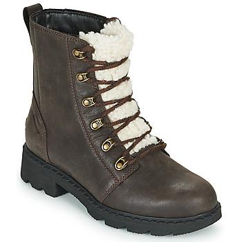 Skor Dam Boots Sorel LENNOX LACE COZY Brun