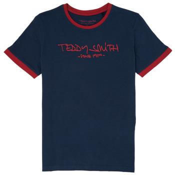 textil Pojkar T-shirts Teddy Smith TICLASS 3 Marin