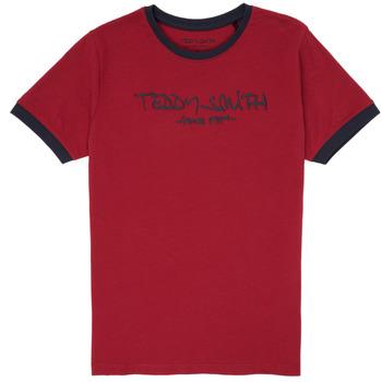 textil Pojkar T-shirts Teddy Smith TICLASS 3 Röd