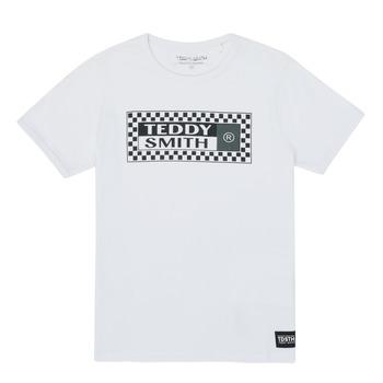 textil Pojkar T-shirts Teddy Smith VANY Vit