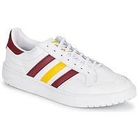 Skor Sneakers adidas Originals TEAM COURT Vit / Bordeaux / Gul