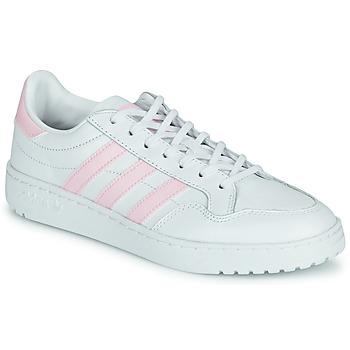 Skor Dam Sneakers adidas Originals TEAM COURT W Vit / Rosa