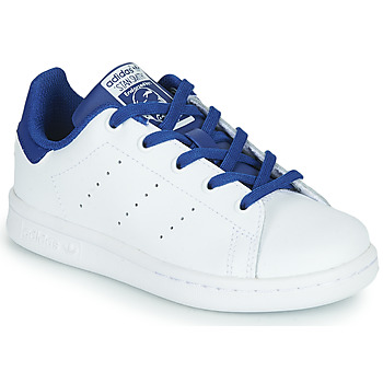 Skor Pojkar Sneakers adidas Originals STAN SMITH C Vit / Blå