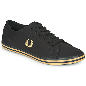 Skor Herr Sneakers Fred Perry KINGSTON TWILL Svart / Guldfärgad
