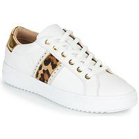 Skor Dam Sneakers Geox PONTOISE Vit / Leopard