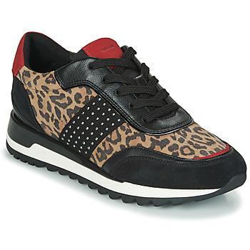 Skor Dam Sneakers Geox TABELYA Leopard / Svart