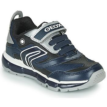 Skor Pojkar Sneakers Geox ANDROID Marin / Silverfärgad