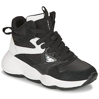 Skor Flickor Höga sneakers Geox BUBBLEX Svart / Vit
