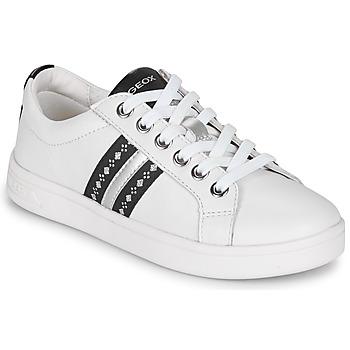 Skor Flickor Sneakers Geox DJROCK Vit