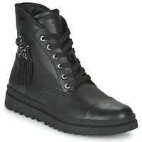 Skor Flickor Boots Geox GILLYJAW Svart
