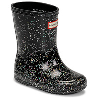 Skor Flickor Gummistövlar Hunter KIDS FIRST CLASSIC GLITTER Svart
