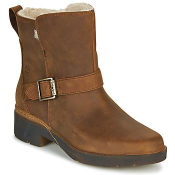 Skor Dam Boots Timberland GRACEYN BIKER WP Brun