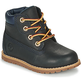 Skor Barn Boots Timberland POKEY PINE 6IN BOOT WITH Blå