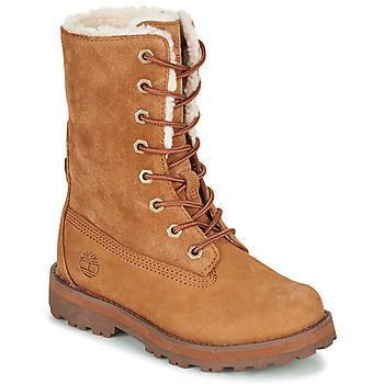 Skor Barn Boots Timberland COURMA KID SHRL RT Brun