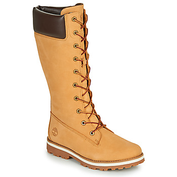 Skor Flickor Stövlar Timberland COURMA KID GIRLS TALL ZIP Vetefärgad