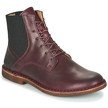 Skor Dam Boots Kickers TITI Bordeaux