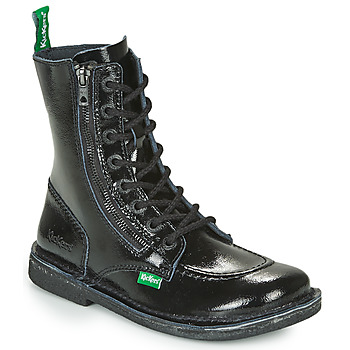 Skor Dam Boots Kickers MEETICKZIP Svart / Lack