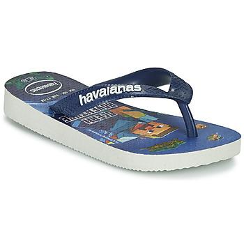 Skor Pojkar Flip-flops Havaianas KIDS MINECRAFT Blå