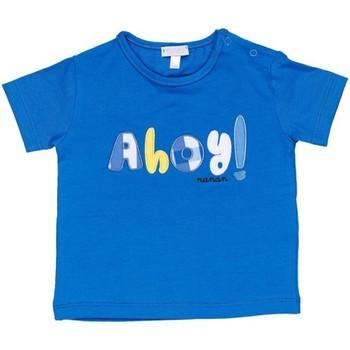 textil Pojkar T-shirts Nanan E20174 Avio