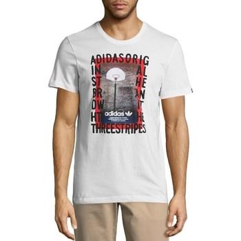 textil Herr T-shirts adidas Originals Originals Graphic Streetball Vit