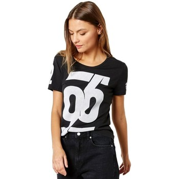 textil Dam T-shirts adidas Originals Number Tshirt Vit,Svarta