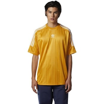 textil Herr T-shirts adidas Originals Originals Jacquard 3 Stripes Tshirt Gula