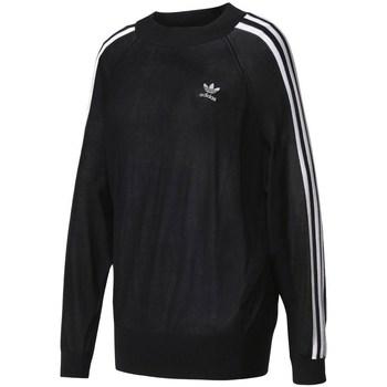 textil Dam Sweatshirts adidas Originals Stripes Sweater Svarta