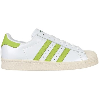 Skor Herr Sneakers adidas Originals Superstar 80S Vit,Gröna