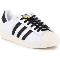 Skor Herr Sneakers adidas Originals Superstar Laceless Vit, Svarta
