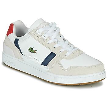 Skor Dam Sneakers Lacoste T-CLIP 0120 2 SFA Vit / Marin / Röd