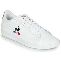 Skor Herr Sneakers Le Coq Sportif COURTSET Vit / Cognac