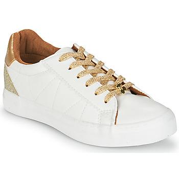 Skor Dam Sneakers Le Temps des Cerises VIC Vit / Guldfärgad