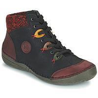 Skor Dam Boots Rieker 52513-36 Svart / Bordeaux