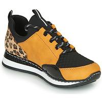 Skor Dam Sneakers Rieker N3083-68 Cognac / Svart