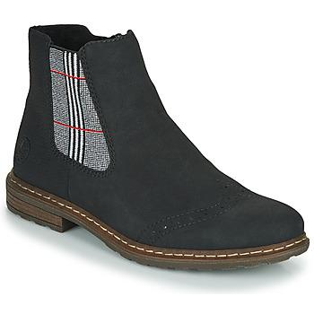 Skor Dam Boots Rieker 71072-02 Svart / Flerfärgad