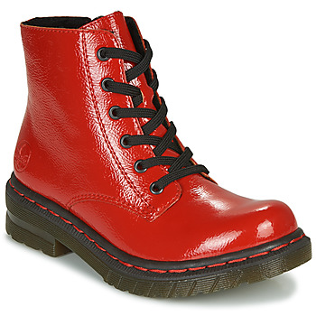 Skor Dam Boots Rieker 76240-33 Röd