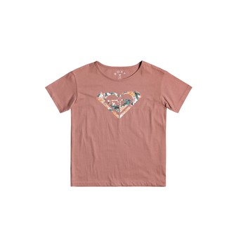 textil Flickor T-shirts Roxy DAY AND NIGHT Rosa