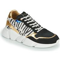 Skor Dam Sneakers Serafini OREGON Svart / Vit / Guldfärgad