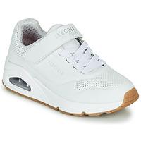 Skor Barn Sneakers Skechers UNO Vit
