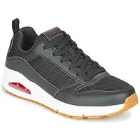 Skor Herr Sneakers Skechers UNO FASTIME Svart