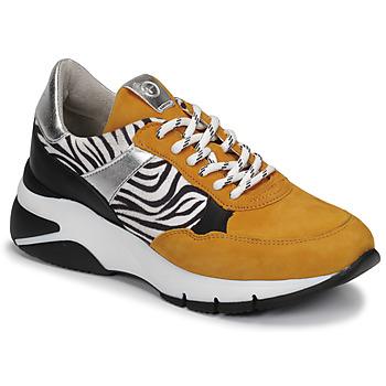 Skor Dam Sneakers Tamaris ELLE Senapsgul / Svart / Zebra